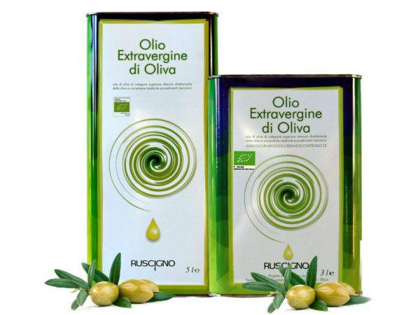 Olio extravergine di oliva bio frantoio ruscigno